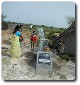 Woman at well in  Piduguralla